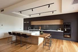 Lights above kitchen bench kitchen modern with modern finishes modern  kitchen timber island bench