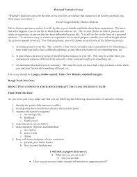 narrative essay examples high school personal narrative college essay samples
