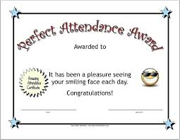 Attendance Award Template Atlasapp Co