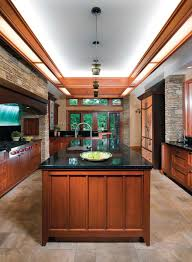 Arts And Crafts Kitchen Lighting An Arts Crafts Style Frank Lloyd Wright Inspired Kitchen With