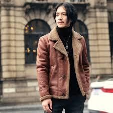 ton slim winter coat men short motor biker coat men fur suede jacket men faux leather