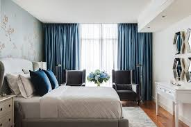 melbourne blue damask curtains bedroom transitional with gray area rug floor lamps sheer