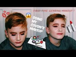 his first time wearing makeup