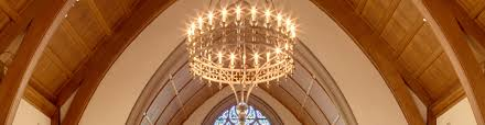 crenshaw catalog lighting featuring kylemore ring chandelier installed at crowell chapel manchester by