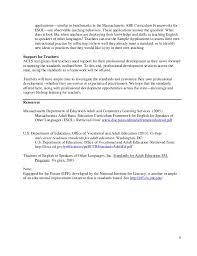 massachusetts standards for adult esol instructors sample 5