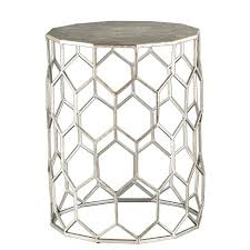 metal accent table. Carmen Metal Accent Table - Antique Silver Aiden Lane Target