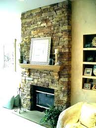 faux stacked stone fireplace ideas dry stack installation