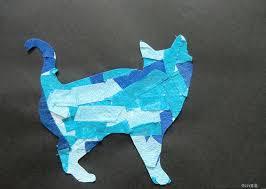 jaká jsi kočko mozaika z papíru