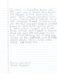 the campbell cuties  brady s first baseball essay