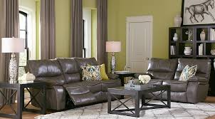 dark gray living room furniture. Wonderful Dark Shop Now Cindy Crawford Home Gianna Gray Leather 2 Pc Living Room With  Reclining Sofa Intended Dark Furniture R