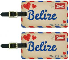 Card For Air Tag Id Belize Love Postcard Luggage Buy Wood Mail PqvwI