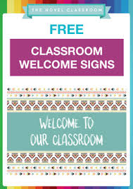 Free Welcome To Our Classroom Signs 4 Signs To Choose From Tpt