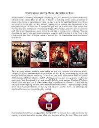 Watch Movies and TV Shows UK Online for Free by kevinn stene - issuu