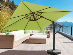 10 foot square cantilever patio