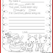 Santa List Template Kids Letter To Santa Template