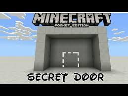 minecraft pe how to make secret door using command block