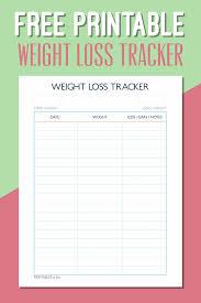 Printable Weight Loss Chart Pdf Ellipsis