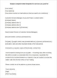 sample complaint letters word letters sample complaint letter 04