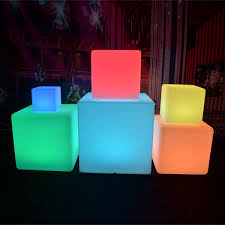 plastic lighting. Durable Wifi Lighting Control LED Cube Chair Unbreakable Plastic Led