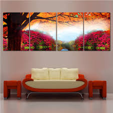 Paintings In Living Room Canvas Painting Unframed Flower Wall Pictures For Living Room Hd