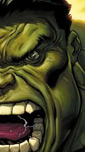 the avengers hulk green face