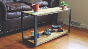 Diy Coffee Table Modern Diy Coffee Table With Aluminum Legs Youtube