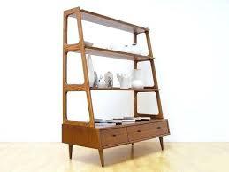 mid century modern shelves mid century danish modern shelf unit room divider solid wood more mid century modern floating shelves