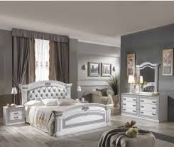 Italian bedroom furniture modern Contemporary Mcs Alexandra White Finish Bedroom Set With Upholstered Bed Frame Furniture Direct Uk Modern Italian Bedroom Furniture Set Online At Cheap Price In Uk