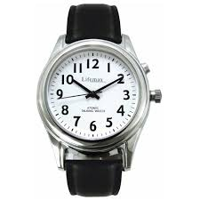 radio controlled mens talking watch leather strap nrs radio controlled mens talking watch leather strap