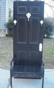Furniture Black Stained Wood Entryway Bench With Shoe Rack And Black Hall Bench