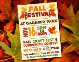 Fall Festival Invite Etsy