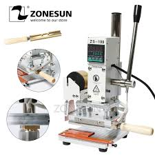 hot deal us 175 00 for zonesun zs100 digital wood paper leather stamping machine with measurement manual hot press zs 100 used with foil paper