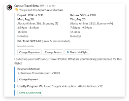 travel profile get where youre going faster with sap concurs travel app