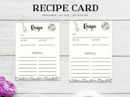 Free Recipe Card Printable By Farhan Ahmad On Dribbble