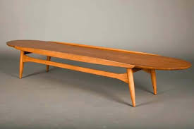 attractive lane surfboard coffee table mid century modern round walnut vintage