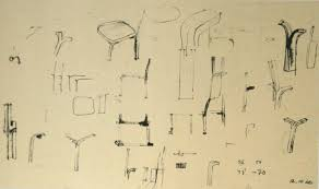 alvar aalto furniture. Sketch For The Furniture\u0027s Leg In Y, Alvar Aalto Furniture