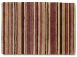 brown red stripe rug 90cm x 150cm