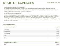 Business Start Up Expenses Startup Expenses