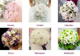 diffe types of flowers for weddings