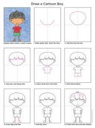 draw a cartoon boy art projects for kids drawing