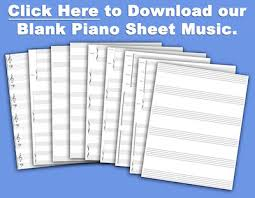 Blank Sheet Of Music Free Blank Piano Sheet Music Available To Download And Print
