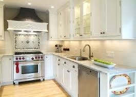 kitchens with white cabinets and black appliances. Small White Kitchens Cabinets A Kitchen With And Black Appliances