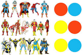 Superhero Color Theory Part I The Primary Heroes