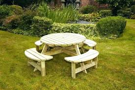 mini picnic table small wooden round wood tables for target