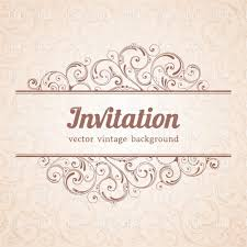 Invitation Card Template With Curly Floral Background And Decorative Elements Stock Vector Image