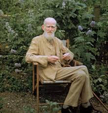 george bernard shaw com george bernard shaw at his country home in ayot st lawrence hertfordshire eng