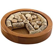 Wine Enthusiast Round Wine Cork Trivet Kit