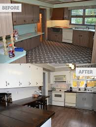 Easy Kitchen Makeover Diy Kitchen Before And After Before And After Remodel Great Small