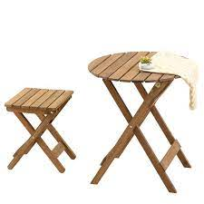 china wooden folding garden table and