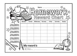 Free Homework Chart Full Service Community Schools Prevention Of Delinquency In